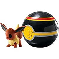 New Pokemon Clip n Carry Pokeball Eevee & Luxury Ball Figure Set