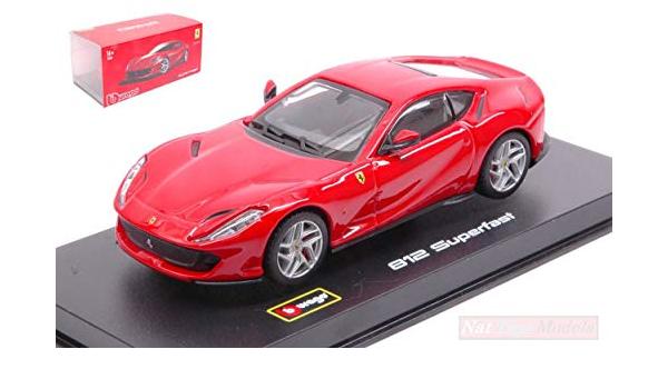 Burago BU36032R Ferrari 812 SUPERFAST 2017 Red 1:43 MODELLINO Die Cast Model Compatibile con