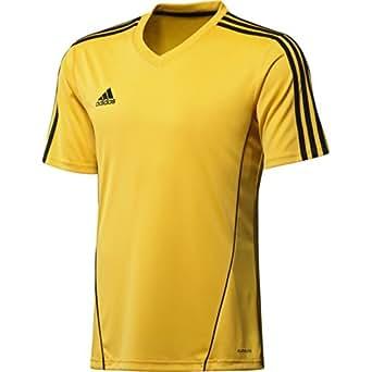 Adidas Estro 12 Jsy SS Tee Men's ClimaLite Sport Fitness Shirt T-Shirt Yellow, Sizes:XS