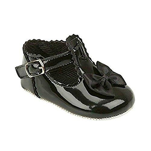 Sevello Clothing , Baby Mädchen Lauflernschuhe schwarzer lack