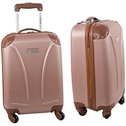 Maleta rígida PIERRE CARDIN rosa antiguo mini equipaje de mano ryanair S217