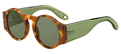 Givenchy gv 7056/s qt 9n4, occhiali da sole donna, marrone (havana brown/green), 51