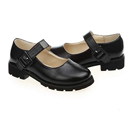 Fad-J Rundes Kopf Mädchen Loli Schuhe Schuhe Damenschuhe Cosplay Uniform Schuhe Spitz Große Schüler Schuhe,39 (Junior Kleidung Bluse)