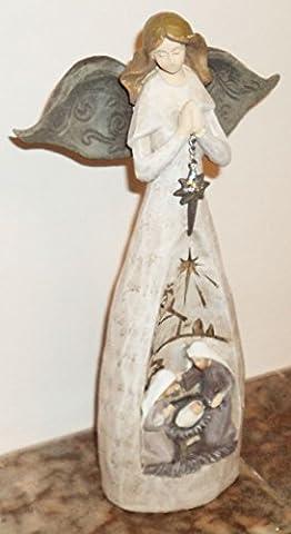 25.40 cm Figur Engel mit Maria, Josef Und Das Jesuskind