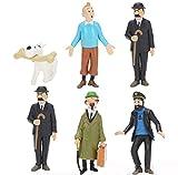 EASTVAPS Aventures de Tintin PVC Figurines 6 Jouets Modèle 7cm...
