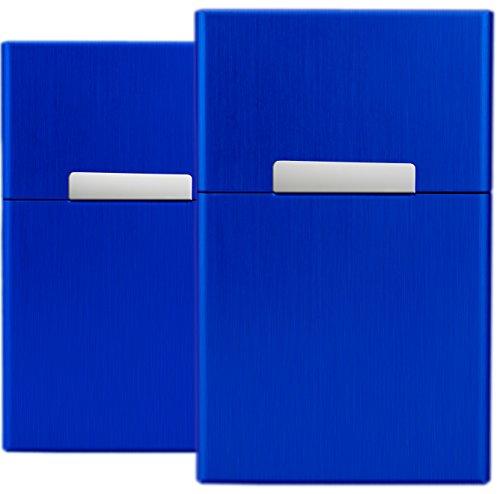 yelloh-set-2-herren-zigarettenetui-blau-zigarettenbox-aluminium-etui-box-behlter-mit-magnetverschlus
