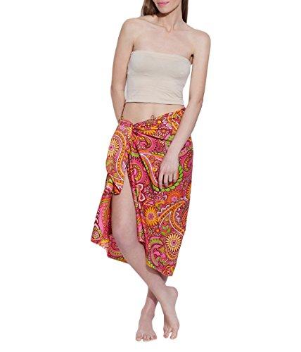 Baumwolle Voiles Geringes Gewicht Sarong Wickel Frauen-Strand-Kleid aus Indien (60er Seide Schal)