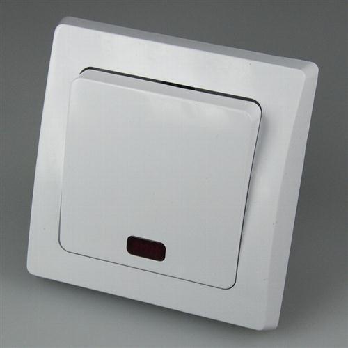Chilitec Delphi Kontroll-Schalter mit Lämpchen, inklusive Rahmen, UP, weiß, 19719 - Beleuchtung, Kontrollleuchten
