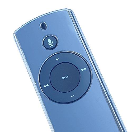 MERES Schutzhülle für den Amazon Echo/Echo Plus und für den Echo Dot Alexa Voice Remote Case, Schutzhülle für den Alexa-Sprachfernbedienung mit Freiem Lanyard (Transparent)