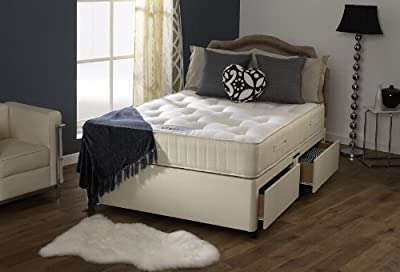 Happy Beds Divan Bed Set Ortho Royale 2 Drawers Orthopaedic Mattress 5' King Size 150 x 200 cm - cheap UK light shop.