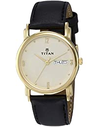 Titan Karishma Analog Champagne Dial Men's Watch -NK1445YL05