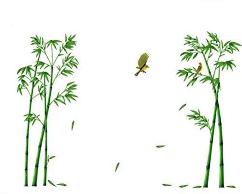 Cosanter Wandtattoo Bambus Muster Wandaufkleber Wandsticker zur Dekoration von Badezimmer oder Schlafzimmer 60 x 90 cm