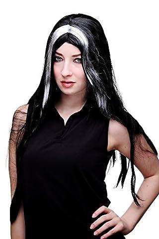 Noir Sorcière Perruque - VK Event Fashion - Perruque Noire, Mèches