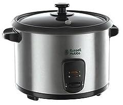 Idea Regalo - Russell Hobbs 19750-56 Cuociriso Cook&Home, 700 Watt, Nero/Acciaio