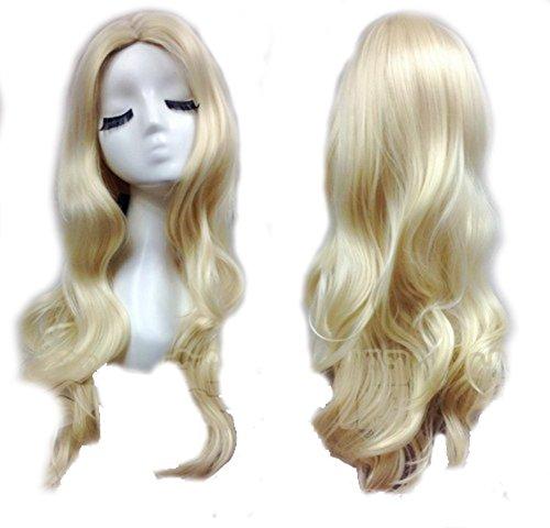 Black Canary Perücke Wig Kostüm Costume Golden Lange Welliges Haar Hair Cosplay Zubehör (Kostüm Canary Black)