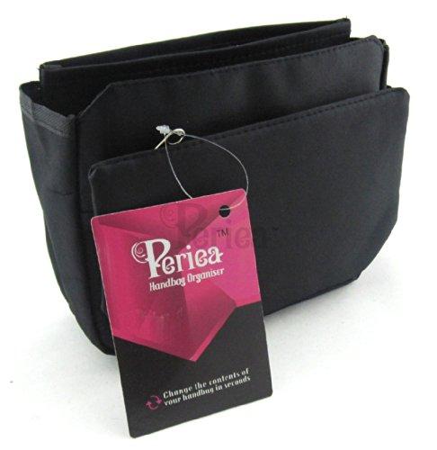 Periea Handtaschenordner, Einsatz, Einlage 9 Taschen 20x16x7cm - Tegan schwarz