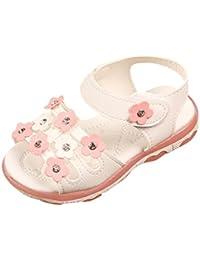 Huhua-Baby Sandal Sandals for Boys, Sandali Bambini Rosa Hot rosa, Bianco (White), 38 2/3 EU
