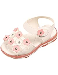 Huhua Sandals for Boys Fashion, Sandali Bambine, Bianco (White), 36 2/3 EU