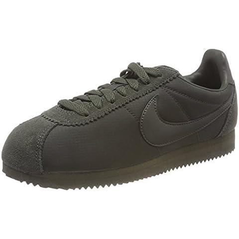 sale retailer 37845 5ee77 Nike Herren Classic Cortez Nylon Gymnastikschuhe Grün (Sequoiasequoiawhite  301) 45.5 EU