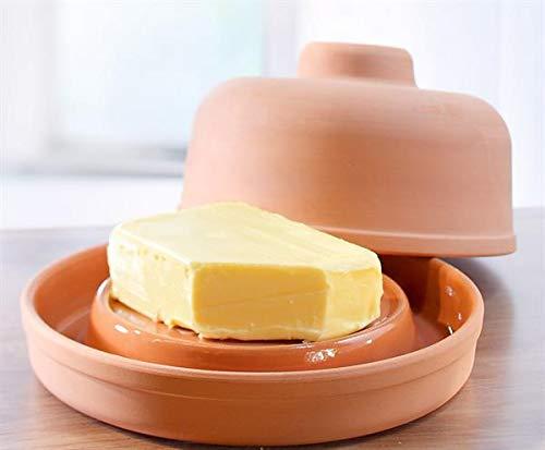 NaturGut Ton Butterkühler - frische Butter ohne Kühlschrank - Butterdose -