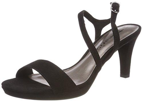 Find Sandalia de Tacón con Tiras de Charol para Mujer, Negro (Black), 38 EU