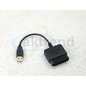 Original AKTrend® USB Steuerkreuz Konverter Converter / Adapter Für Sony PS2 zu PS3 – Controller Usb Adapter Kabel PS2 Auf PS3 & PC Für Sony Playstation 2 3 Konverter