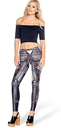 Belsen Donna Deadpool stretch Leggings pantaloni a matita chain