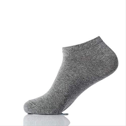 Yiylia Herren Socken Winter Verdickte Baumwollstrümpfe Einfarbig Absorbierensweat Atmungsaktive Deodorant Anti-Geruch Business Sport 5 Doppel-Geschenk-Box Durchschnittlicher Code Dunkelgrau -