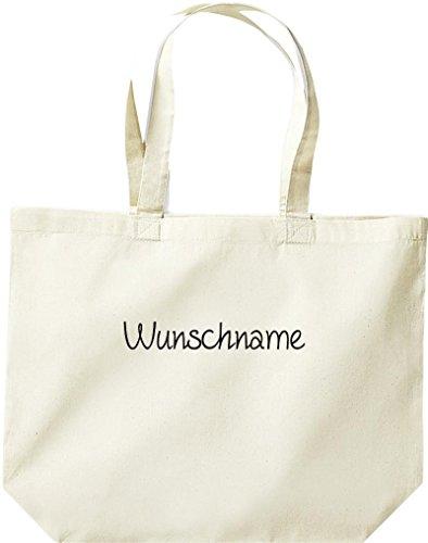 Shirtstown große Einkaufstasche, Shopper mit Ihrem Wunschtext versehen Natur