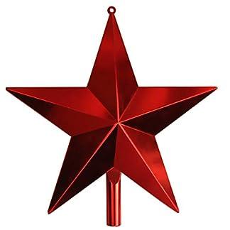 Christbaumspitzen-Weihnachtsbaum-Topper-Stern-Weihnachtsfest-Festival-Dekoration-GeschenkRot40cm