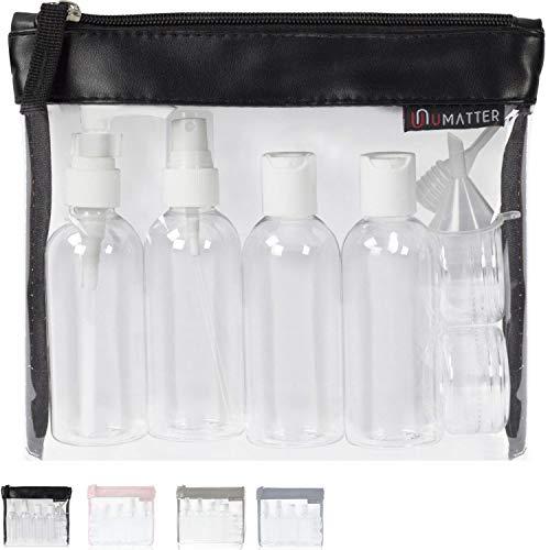 umatter ® Flugzeugbeutel, Kulturbeutel transparent für Flüssigkeiten im Handgepäck mit 6 Reiseflaschen...