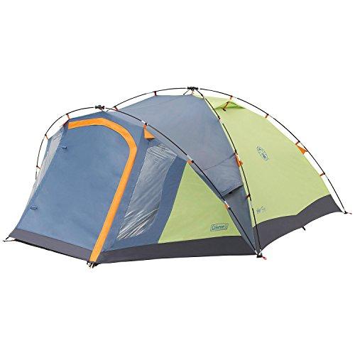 Coleman Fast Pitch Drake, Zelt 4 Personen, 4 Mann Zelt, Igluzelt, Festivalzelt, leichtes Kuppelzelt mit Vorzelt, eine Schlafkabine, wasserdicht WS 3.000 mm - 3