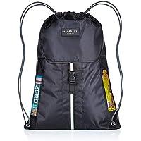 b61f05452090 Premium Quality 5 Pocket Waterproof Unisex Gym sack Drawstring Bag Swimming  Bag School PE Sackpack Backpack