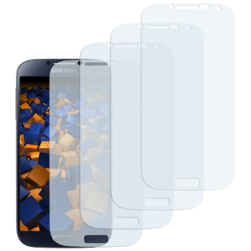 mumbi Schutzfolie kompatibel mit Samsung Galaxy S4 Folie klar, Bildschirmschutzfolie (4x)