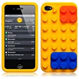 iPhone 4S / iPhone 4 Yellow Brick Style Silicone Skin Case / Cover / Shell
