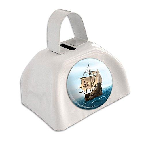 Piratenschiff Segelboot Ocean weiß Cowbell Kuhglocke