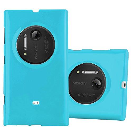 Preisvergleich Produktbild Cadorabo Hülle für Nokia Lumia 1020 - Hülle in Jelly HELL BLAU – Handyhülle aus TPU Silikon im Jelly Design - Silikonhülle Schutzhülle Ultra Slim Soft Back Cover Case Bumper