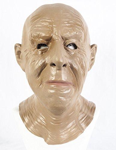 Realistische Alter Mann Latex Maske OAP Opa Kostüm 'The Rubber Plantation (Brille Kostüm Mann Alter)