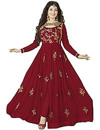 Latest Designer Women's Dresses Party Wear Georgette Long Anarkali Semi-Stitched Salwar Suits For Woman