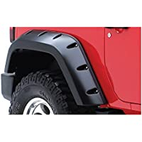 Max Coverage Pocket Style Fender Flare - OE Matte Black, Rear Pair, USA