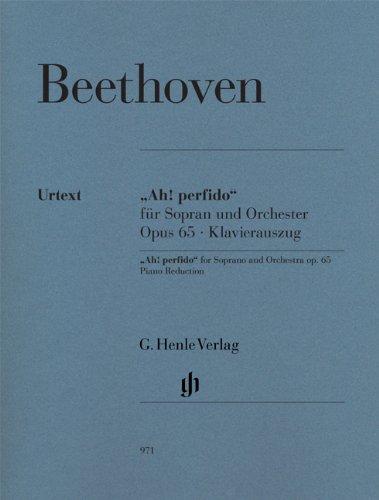 Ah Perfido Op.65 --- Voix Haute et Piano