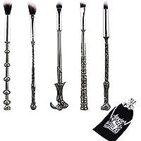 Metal Eye Brushes Set Makeup Brush Kit, Wechip Harry Fan Wizard Wand Brushes Eyeshadow Brush for Foundation Blending Blush Concealer Eyebrow Face Powder