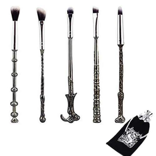 Juego de 5 brochas para maquillaje, diseño de varitas mágicas de Har