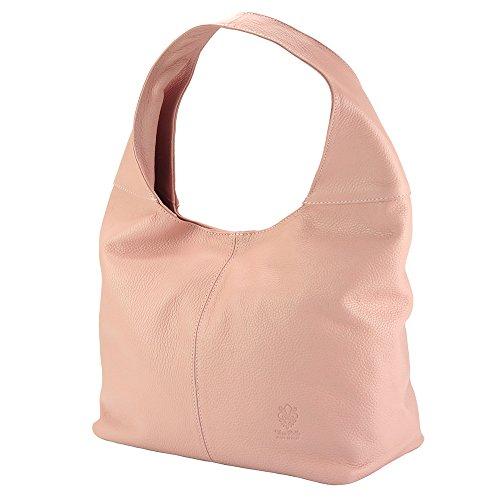 Leggera ed ergonomica borsa Hobo Caïssa - 0834 - Borse in pelle Rosa