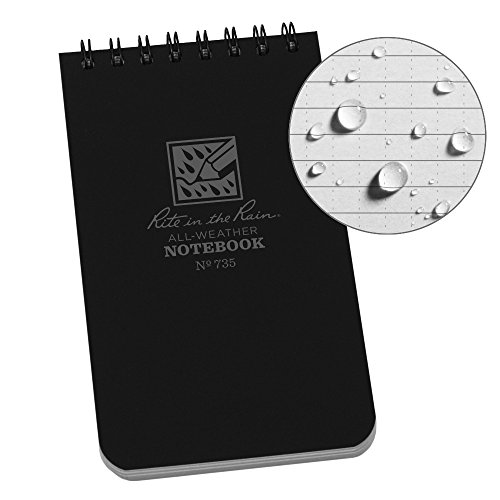 Produkte von Rite in the Rain Wasserdicht 3 x 5-Inch Schwarz (Top-spirale Gebunden Notebook)