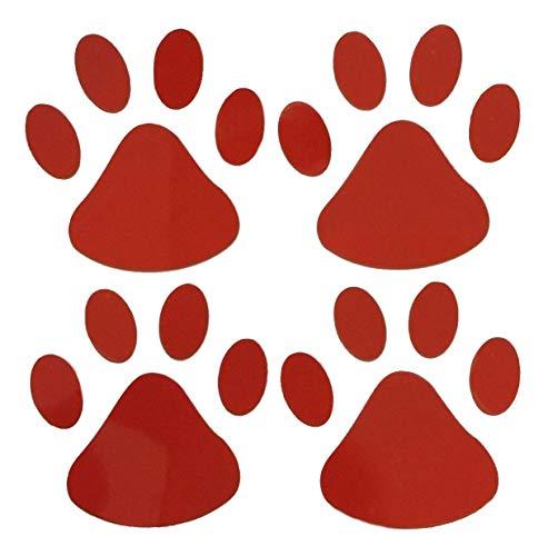 Adesivo auto divertenti 3d decalcomania zampa cane per automobile colore rosso lucido cf 4 adesivi dimensione zampetta 6 cm