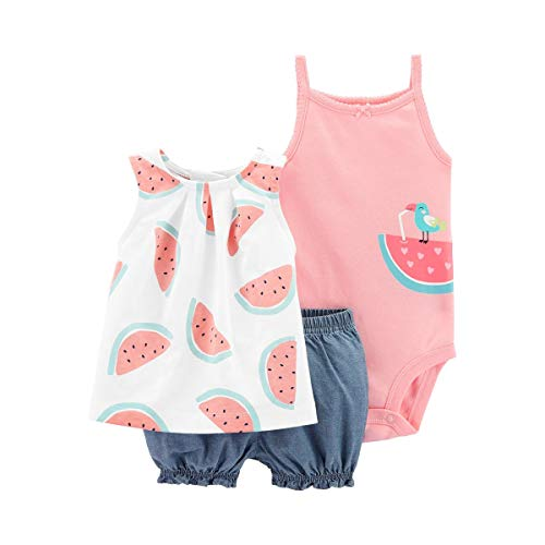 CARTER´S 3-TLG. Set Top, Body ohne Arm und Shorts Melone Carters Top