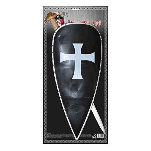 Dark Erwachsene Kostüm Knight Für - TrendClub100® Schwert und Schild für Ritter Kostüm Dark Knight - Erwachsene (SS, E)