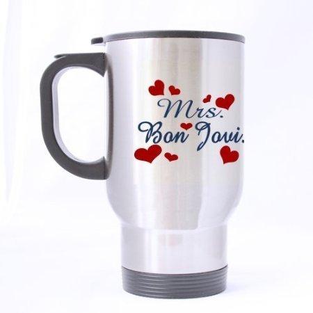 Pretty Specially-made Mrs. Bon Jovi Sliver Stainless Steel Mug by Mrs. Bon Jovi Mugs