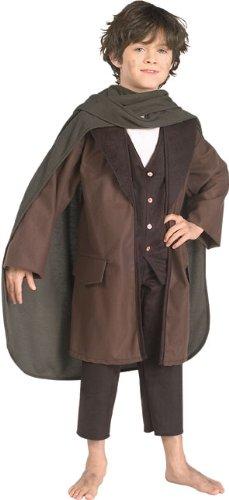 Herr der Ringe Frodo Beutlin Kostüm Kinder Kinderkostüm Hobbit Gandalf Gr. S - L, Größe:L